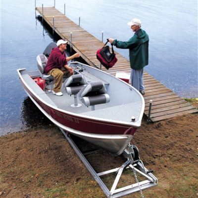 DIY Boat Ramp to dock your boat on shore
