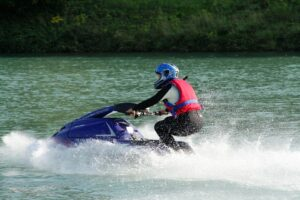 cold weather jet skiing in a drysuit - Roll-N-Go CA